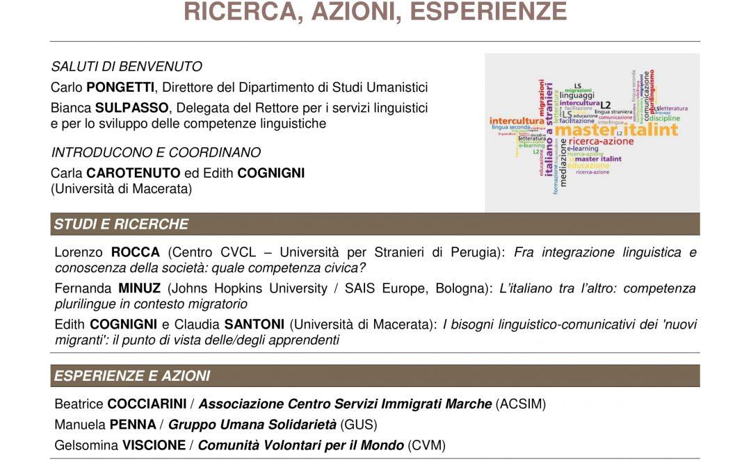 CITTADINANZA E POLITICHE FORMATIVE PER L'ITALIANO L2 –  Ricerca, azioni, esperienze.