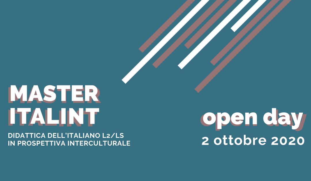 2 ottobre 2020: OPEN DAY – Master Italint
